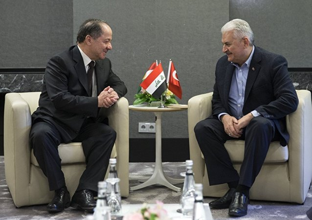 IKBY Başkanı Mesud Barzani ve Başbakan Binali Yıldırım