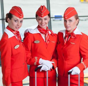 Aeroflot hostesleri.