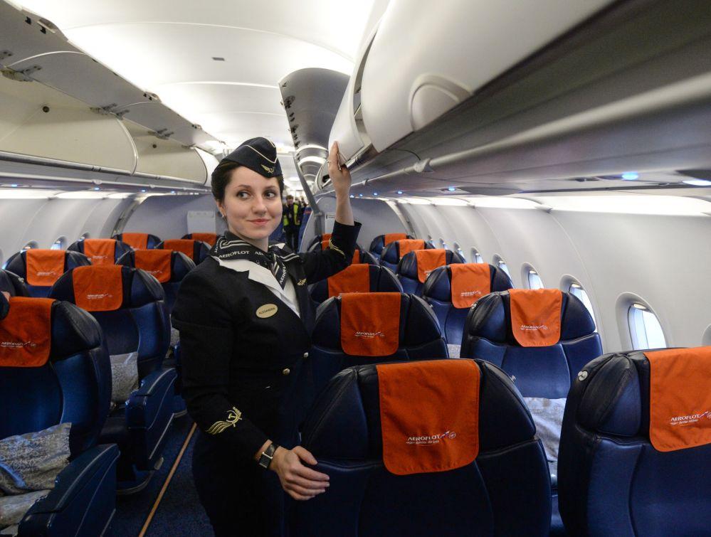 Aeroflot A-321 uçağı, Novosibirks'teki Tolmaçevo Havalimanı'nda.