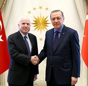 ABD'li senatör John McCain ve Cumhurbaşkanı Tayyip Erdoğan