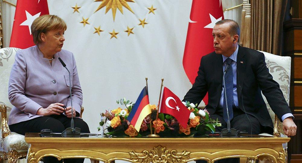 Cumhurbaşkanı Recep Tayyip Erdoğan- Almanya Başbakanı Angela Merkel