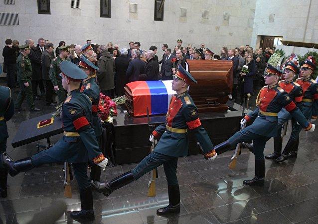 Moskova'da Vitaliy Çurkin için veda töreni düzenlendi