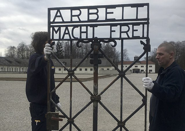 Dachau toplama kampından çalınan tarihi kapı