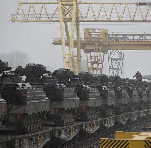 Litvanya'ya konuşlanan Alman tankları