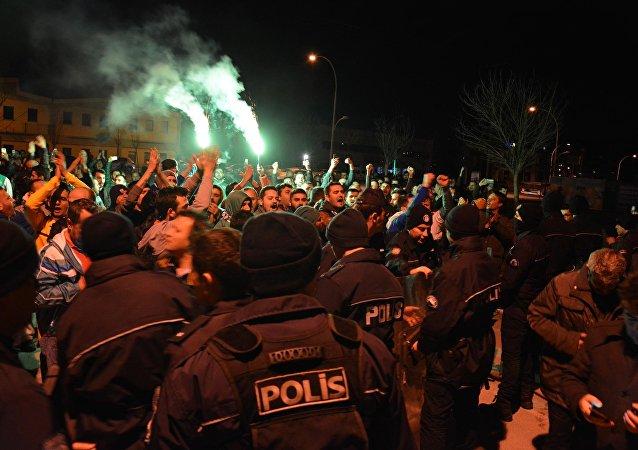 Bursasporlu futbolculara saldırı