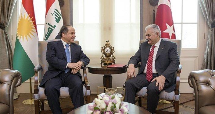 Başbakan Binali Yıldırım - IKBY Başkanı Mesud Barzani