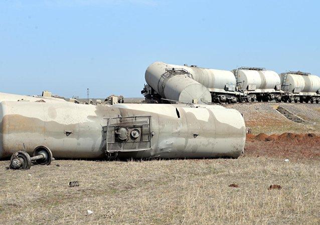 Diyarbakır'da yük trenine saldırı düzenlendi