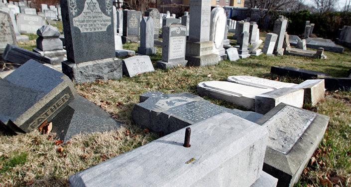 ABD'nin Philadelphia şehrinde saldırıya uğrayan Yahudi mezarlığı