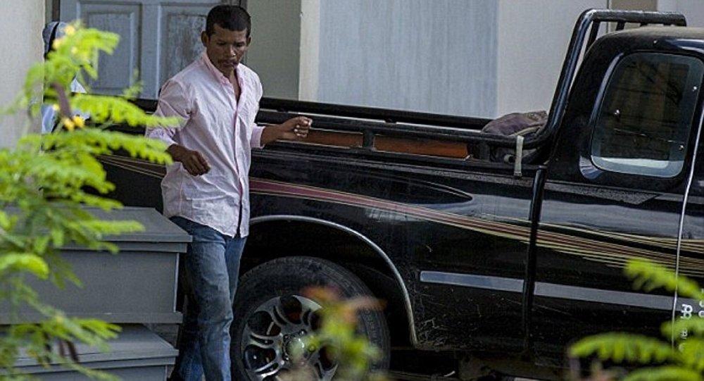 Genç kadının cenazesini teslim alan eşi Reynaldo Peralta Rodriguez