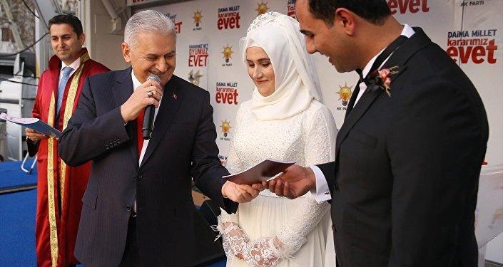 Başbakan Binali Yıldırım nikah kıydı