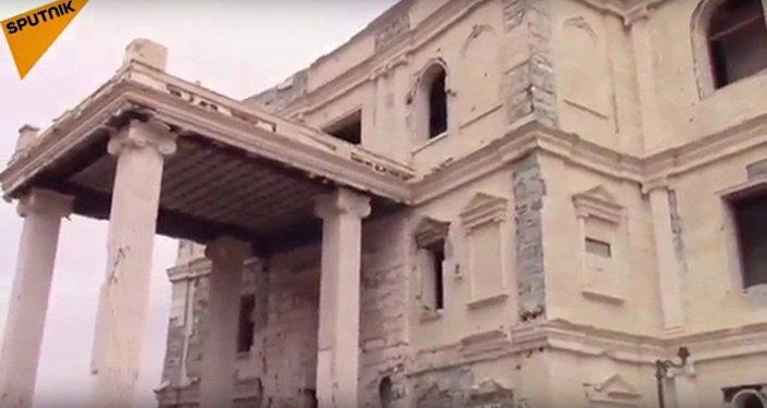 Teröristlerden kurtarılan Palmira'nın görüntüleri