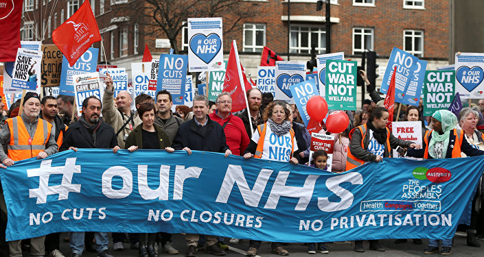 Londra'da NHS protestosu