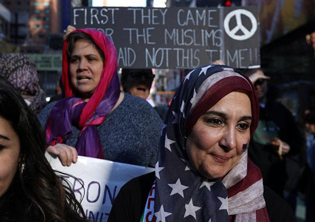 ABD'de Müslümanlara destek gösterisi
