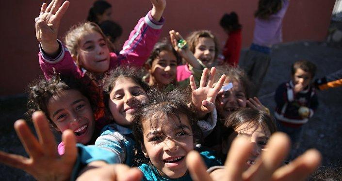 Adıyaman'ın Samsat ilçesinde çocuklar