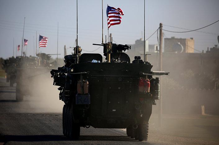 Menbiç'te konuşlanan ABD askerlerinin görüntüleri yayınlandı.