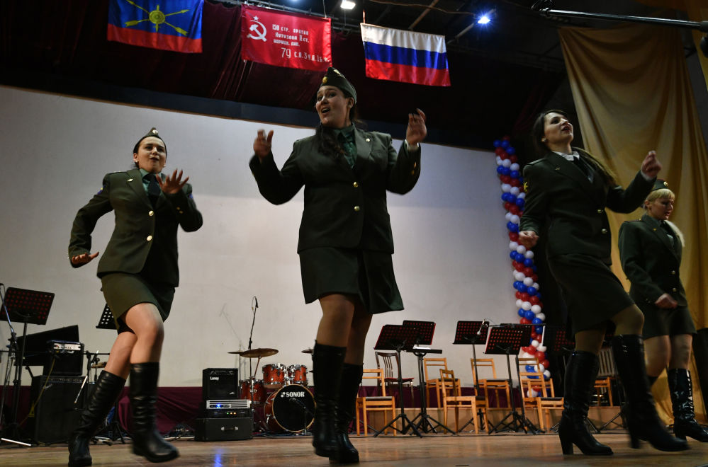 Rus kadın askerler