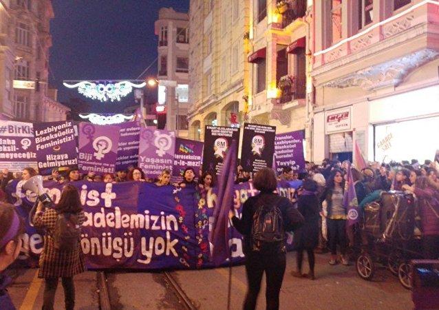 Taksim - 8 Mart yürüyüşü