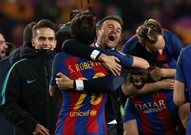 Barcelona Teknik Direktörü Luis Enrique
