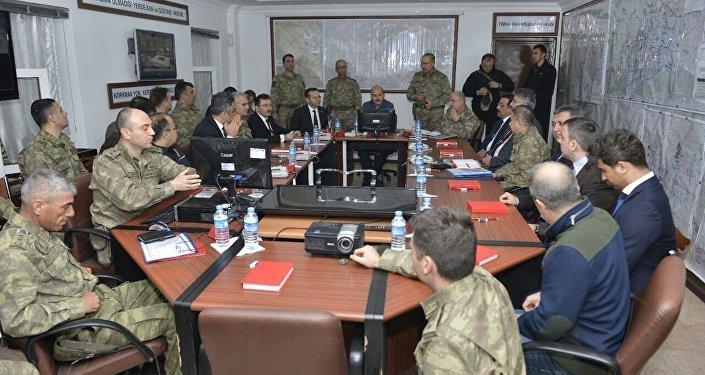 İçişleri Bakanı Süleyman Soylu, Jandarma Genel Komutanı Orgeneral Yaşar Güler ve Emniyet Genel Müdürü Selami Altınok