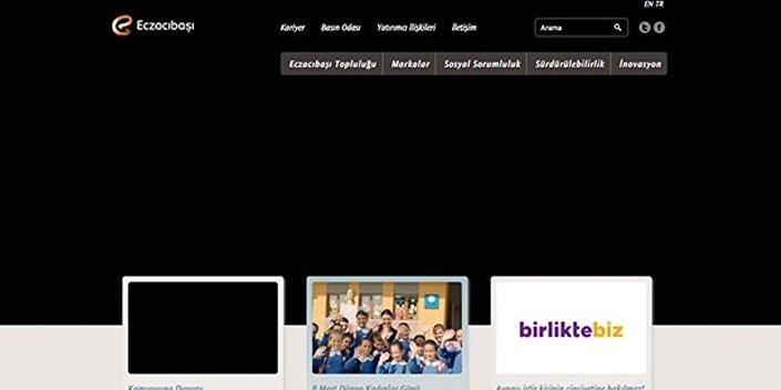 Kazanın ardından bir baş sağlığı mesajı yayınlayan Eczacıbaşı Grubu, internet sitesini de kararttı.