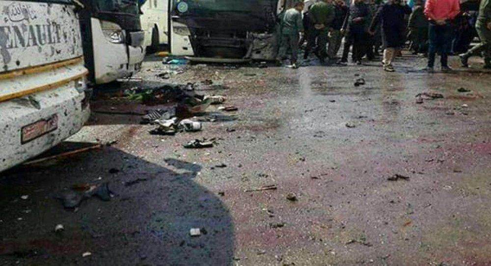 Suriye devlet haber ajansı SANA, Şam'daki olay yerine dair fotoğraf paylaştı
