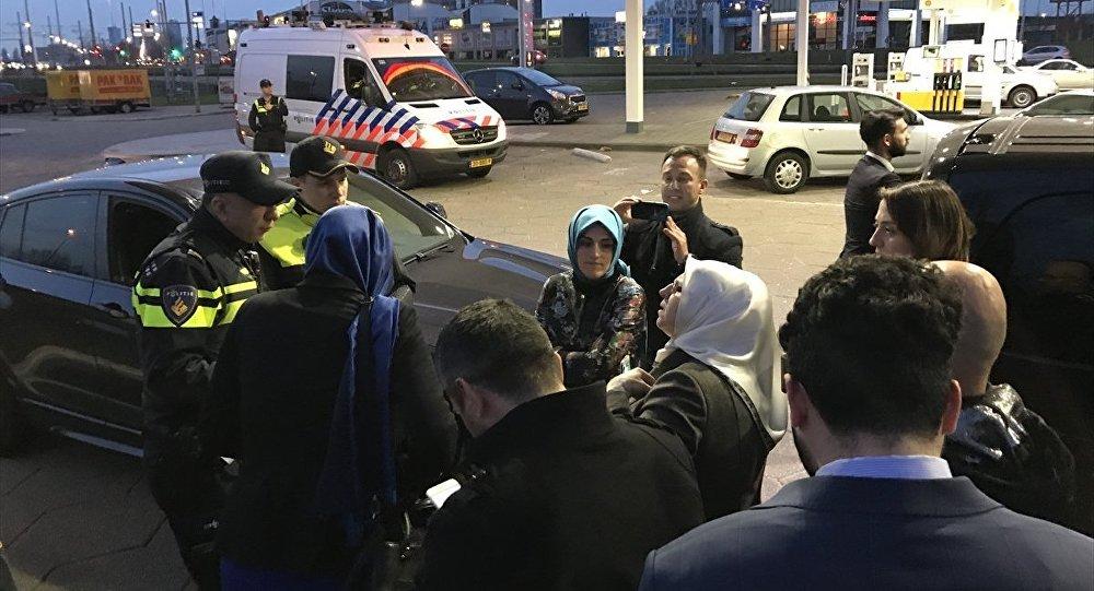 Aile ve Sosyal Politikalar Bakanı Fatma Betül Sayan Kaya'nın aracı durduruldu