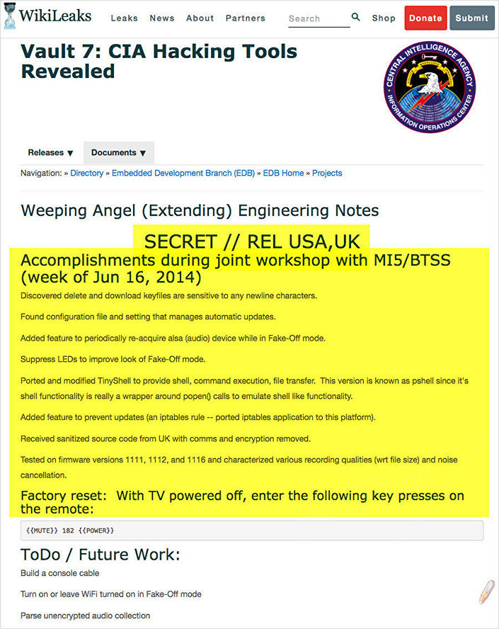 WikiLeaks'in ifşa ettiği CIA belgeleri