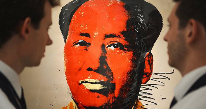 Sanatçı Andy Warhol'un ünlü Mao portresi