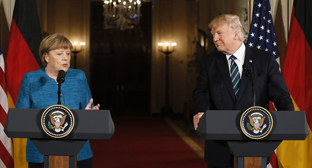 Angela Merkel ve Donald Trump