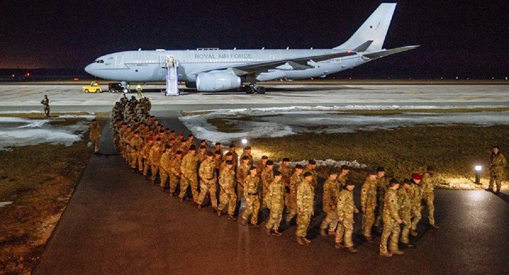 NATO'ya bağlı İngiliz askerlerin ilk bölümü Estonya'da