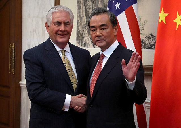 ABD Dışişleri Bakanı Rex Tillerson ve Çin Dışişleri Bakanı Wang Yi