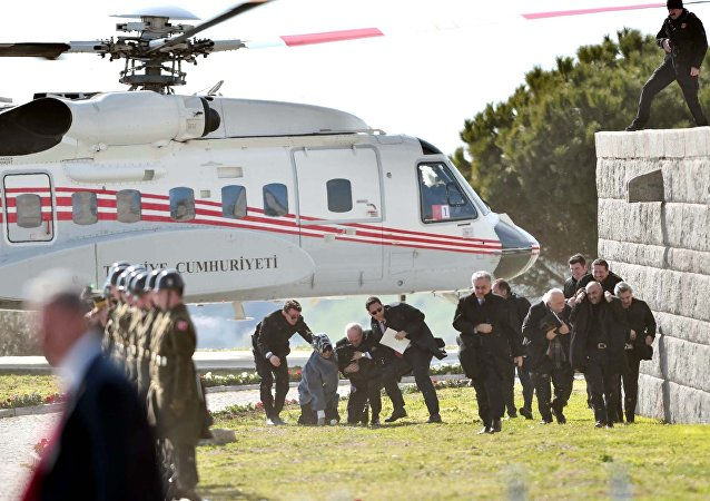 Cumhurbaşkanı Erdoğan'ın helikopteri Kurtulmuş çiftine zor anlat yaşattı
