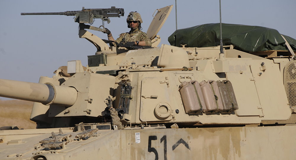 Suriye'de ABD tankı