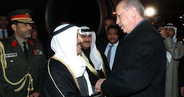 Kuveyt Emiri Şeyh Sabah Ahmed Cabir el Sabah, Cumhurbaşkanı Recep Tayyip Erdoğan