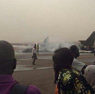 Güney Sudan'da düşen uçak