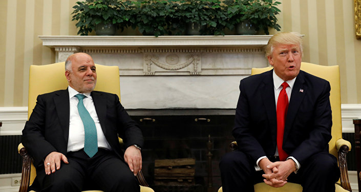 Irak Başbakanı İbadi ve ABD Başkanı Trump