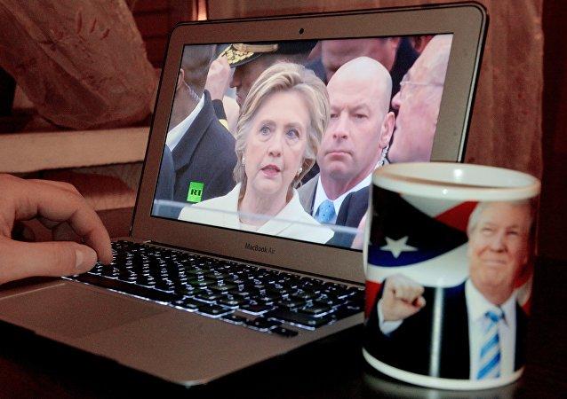 ABD Başkanı Donald Trump'ın yemin törenini izleyen bir Rus