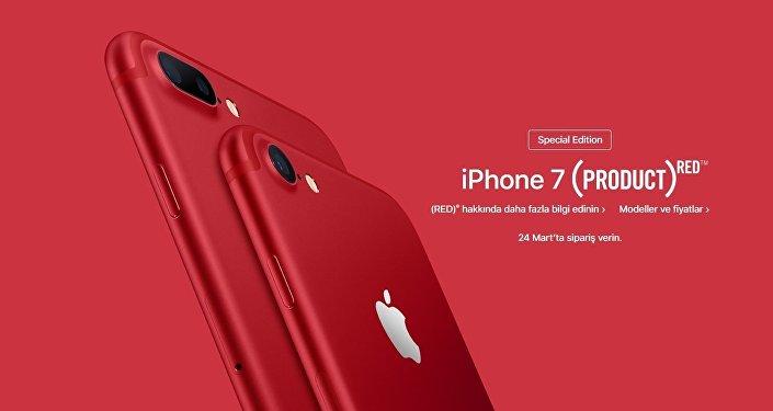 Apple, iPhone 7 kırmızı modelini piyasaya sürdü.