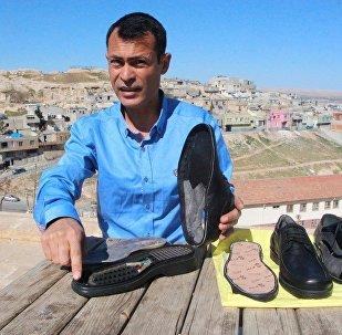 Şanlıurfalı vatandaş sinyal kesici ayakkabı tasarladı
