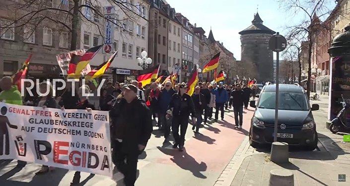Nürnberg'de PEGIDA'dan Erdoğan karşıtı yürüyüş / Video haber