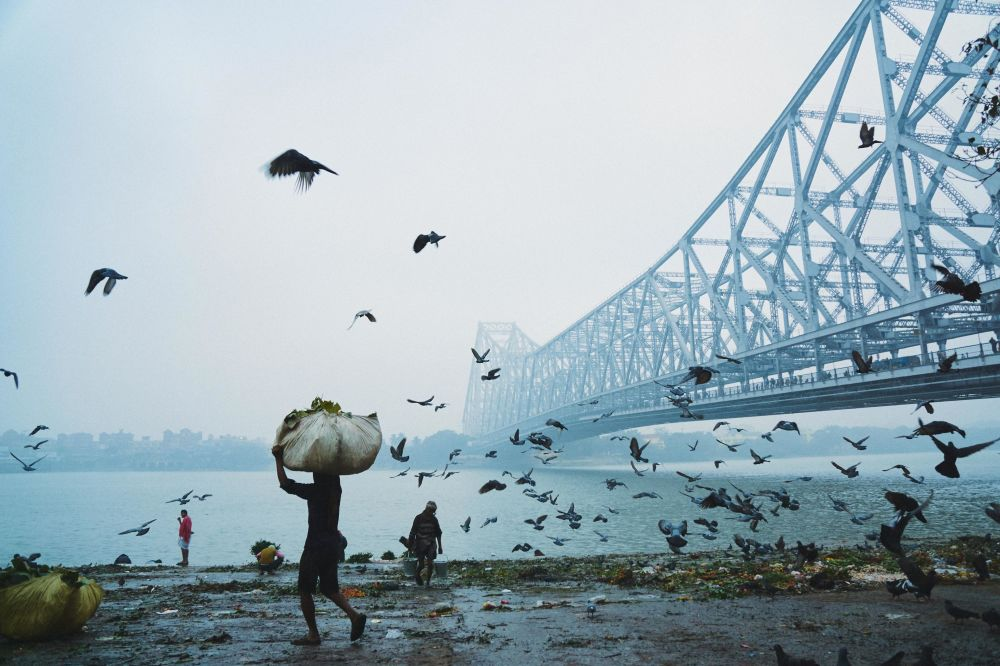 Bangladeşli fotoğrafçı Mohammad Amir Hamja'nın 'Howrah Bridge' çalışması