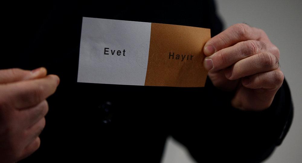 Anayasa değişikliği referandumu / Oy pusulası