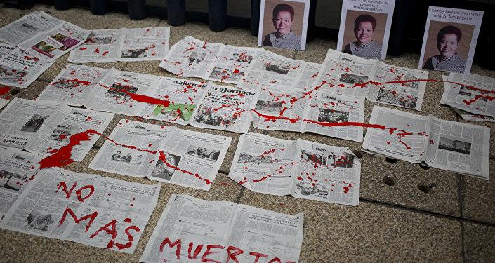 Meksika'da br ay içinde 3 gazeteci öldürüldü