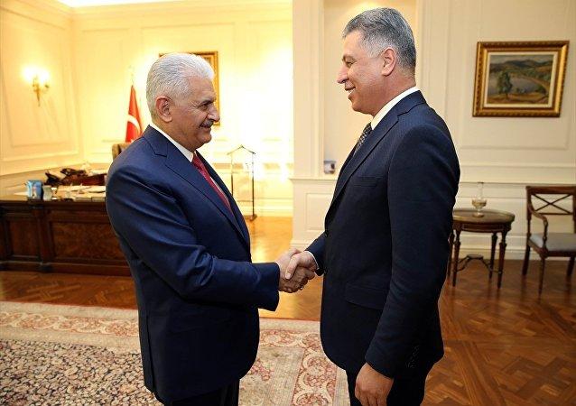 Başbakan Binali Yıldırım ve Irak Türkmen Cephesi Başkanı Erşat Salihi