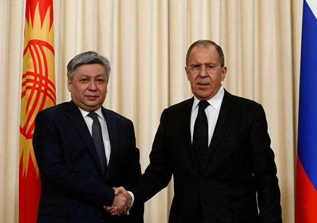 Rusya Dışişleri Bakanı Sergey Lavrov- Kırgızistan Dışişleri Bakanı Erlan Abdıldayev