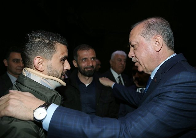 Cumhurbaşkanı Recep Tayyip Erdoğan ve Hüseyin Kurt