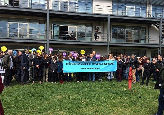 Bilgi Üniversitesi'nde Chris Stephenson'a destek eylemi