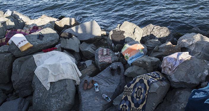 Afgan sığınmacıların eşyaları