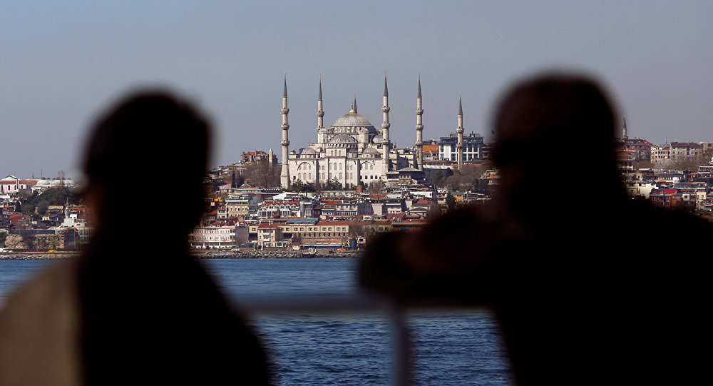 Sultanahmet Camii manzaralı İstanbul