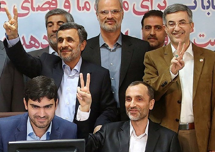 Mahmud Ahmedinejad ve Hamid Bakayi